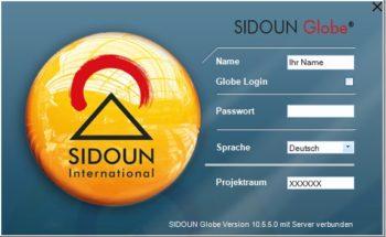 Login-Dialog SIDOUN Globe4all